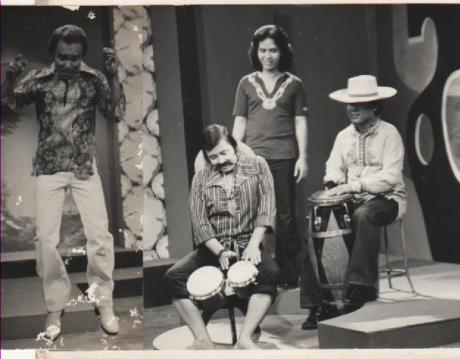 Dari kiri Bob Tutupoly,Gatot Soenjoto,Udinsyah dan Cucun di TVRI