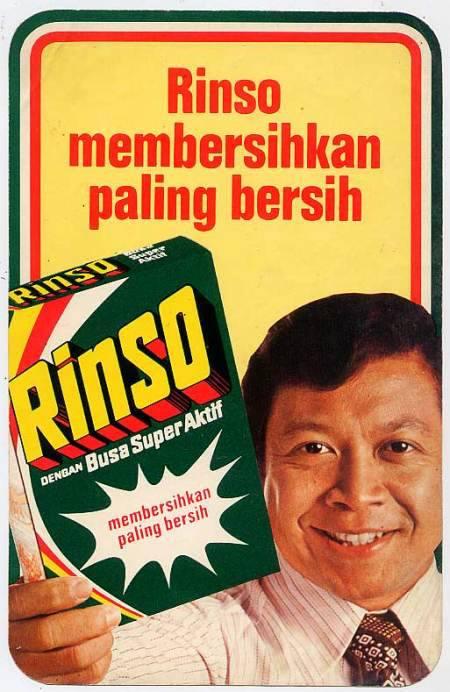 Kris Biantoro sebagai model iklan sabun cuci Rinso