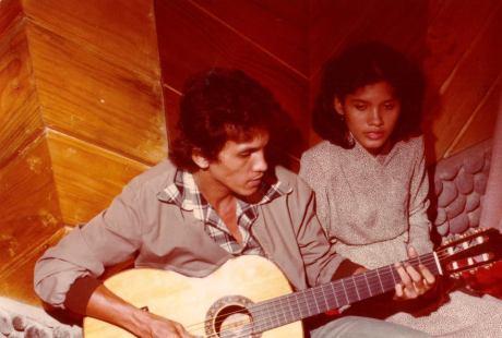 Franky & Jane saat rekaman di studio Jackson Record and Tapes di kawasan Pluit Jakarta